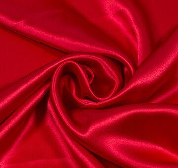 Hedvábný satén, červený