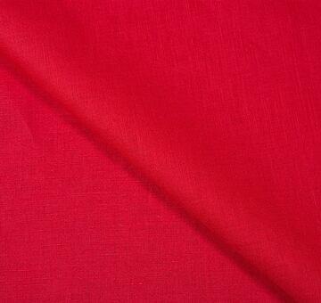 Lněné plátno, zářivě červené