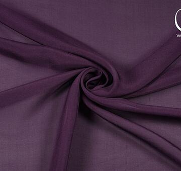 Hedvábný šifon, tm. fialový