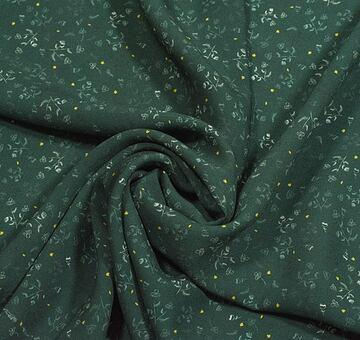 Autorská látka heřmánek, tmavě zelený, viskóza EcoVero