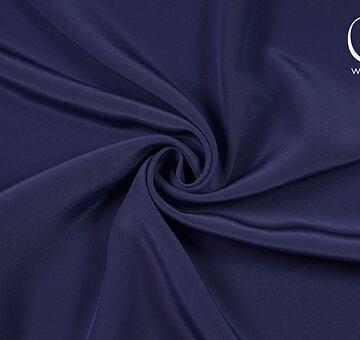 Hedvábný krepdešín, modrý