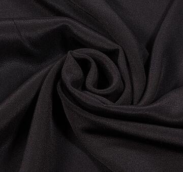 Hedvábný krep marokén, černý, 1.5m