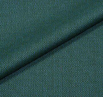 Vlna s diamantovou vazbou, zeleno-modrá