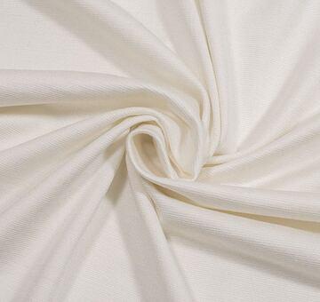 Buretový hedvábný žerzej, ivory