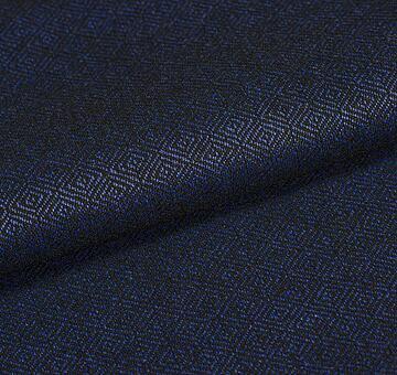 Vlna s diamantovou vazbou, modro-černá