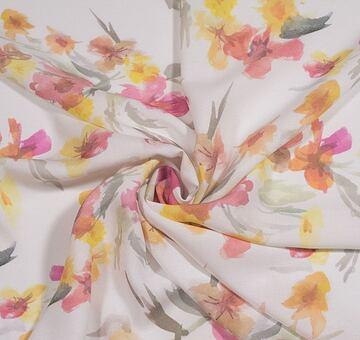 Autorská látka květy, viskóza EcoVero
