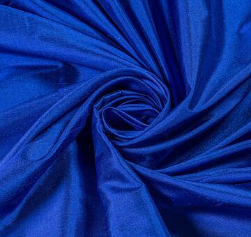 Hedvábný dupion, hladký, královsky modrý