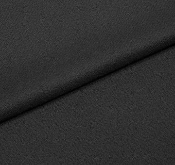 Lehké sukno z merina, kepr, černé, 0.5m
