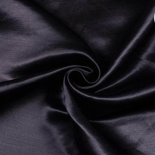 Satén polohedvábný, černý