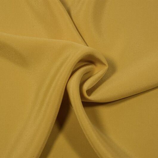 Hedvábný krepdešín, tlumeně žlutý
