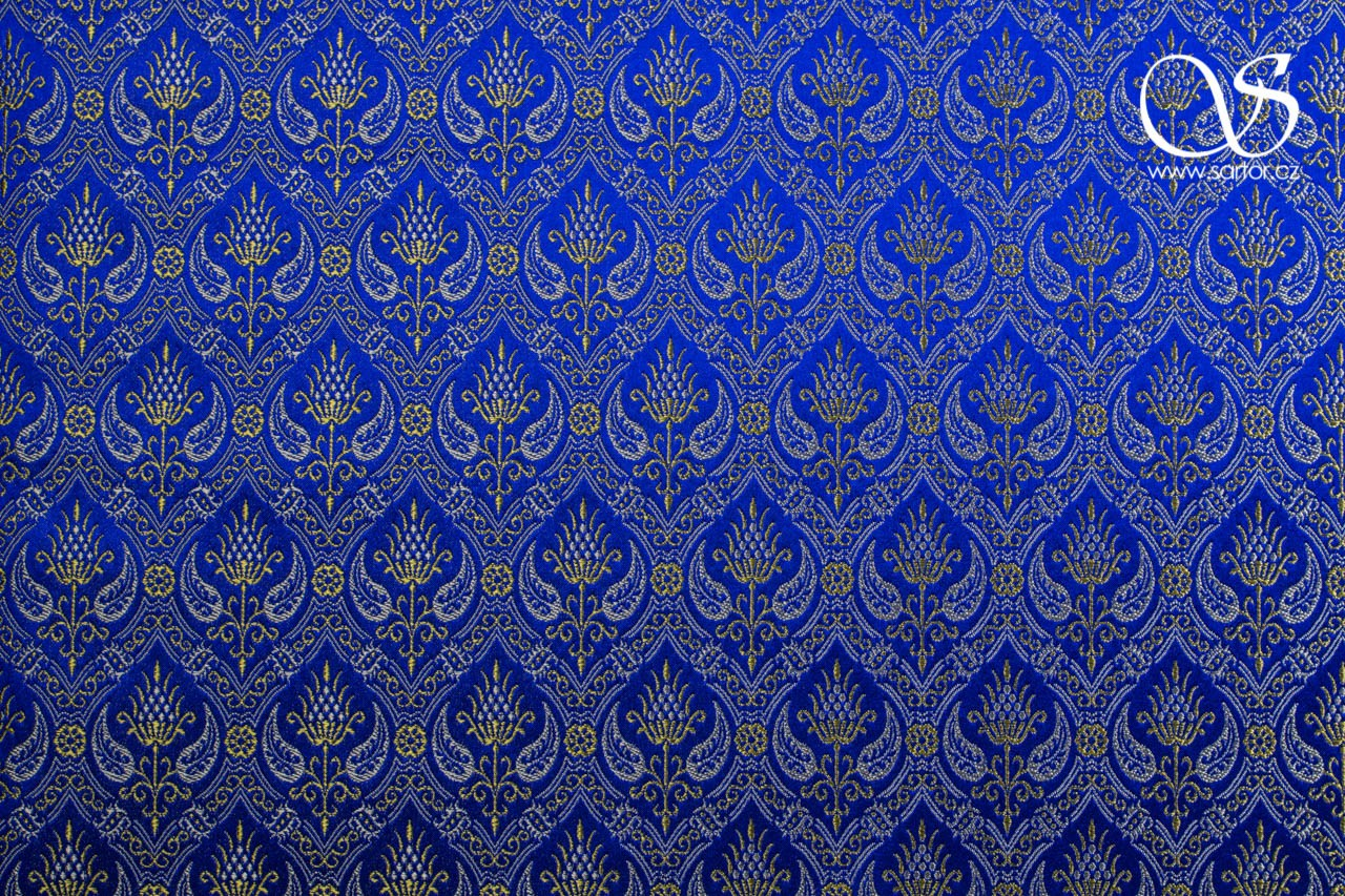 Brocade Spanish Rennaisance, Blue and Gold
