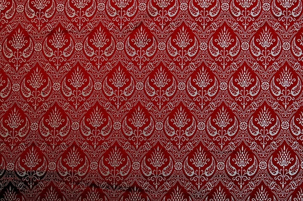Brocade Spanish Rennaisance, Red and Silver