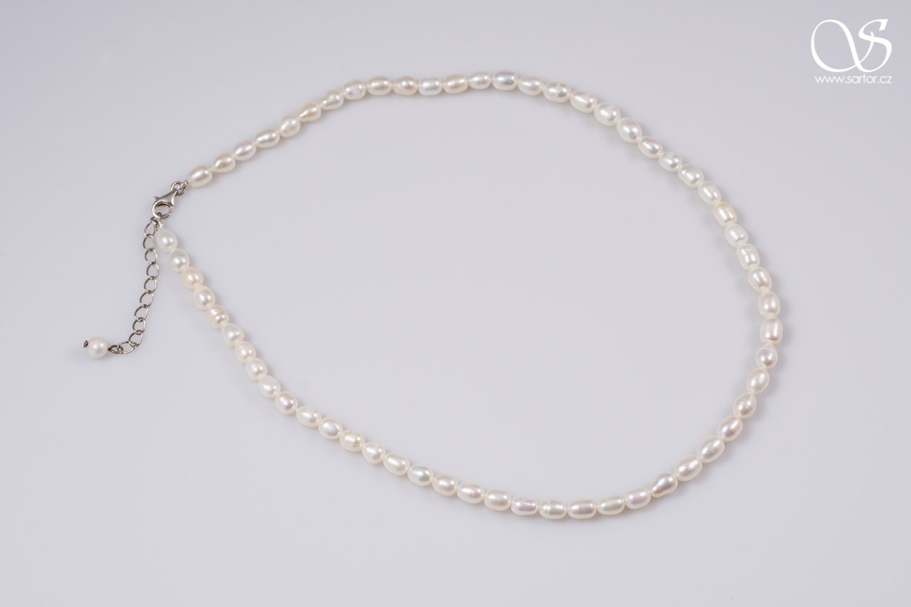Necklace, Medium Oval Pearls