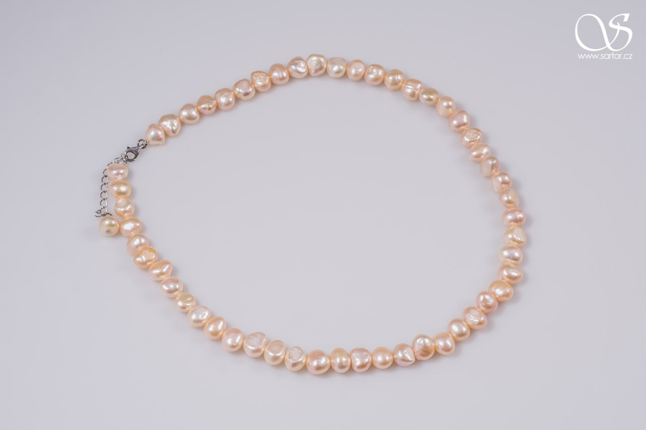 Necklace, Medium Baroque Pearls