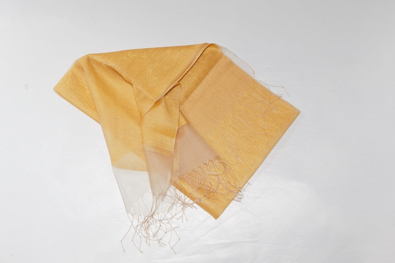 Double Silk Scarf, Gold