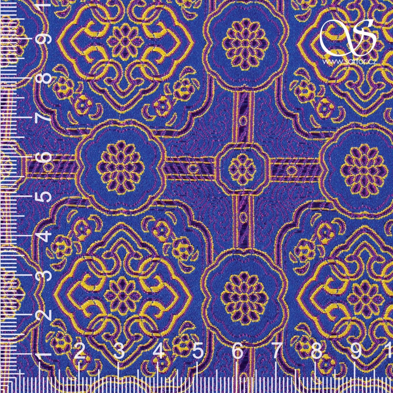 Oriental Brocade, Blue and Violet