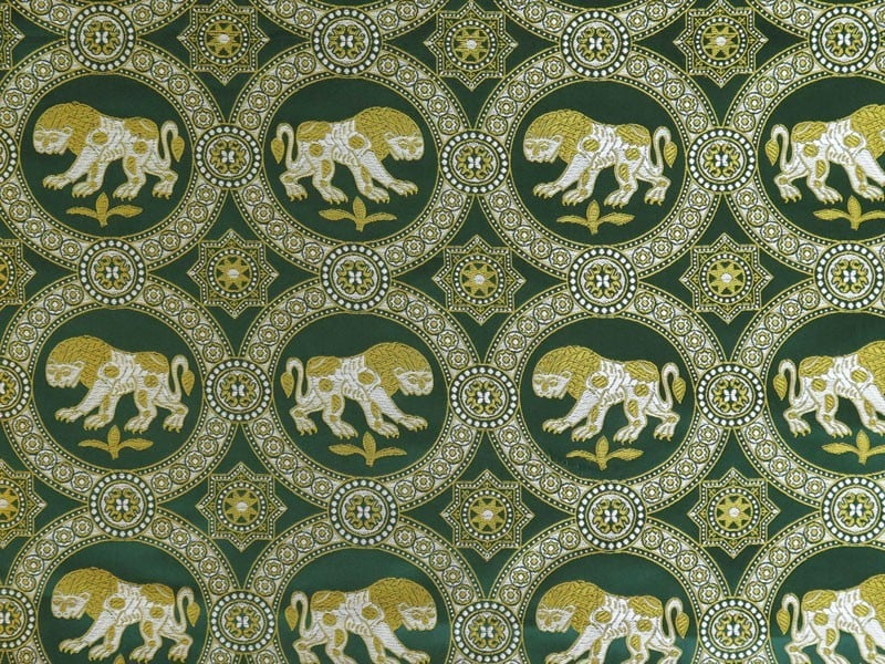 Polohedvábný brokát se lvem svatého Juliána 722599b319