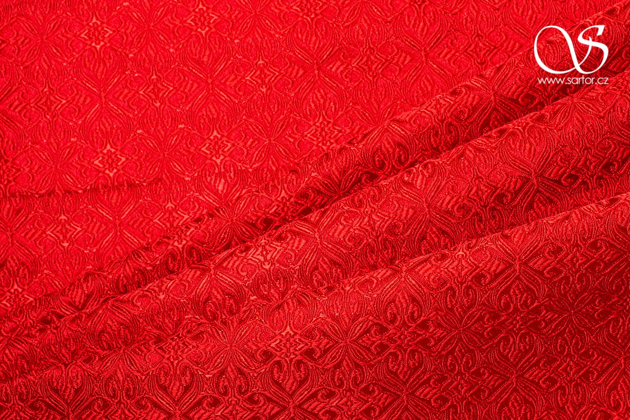 Noble Brocade, Red