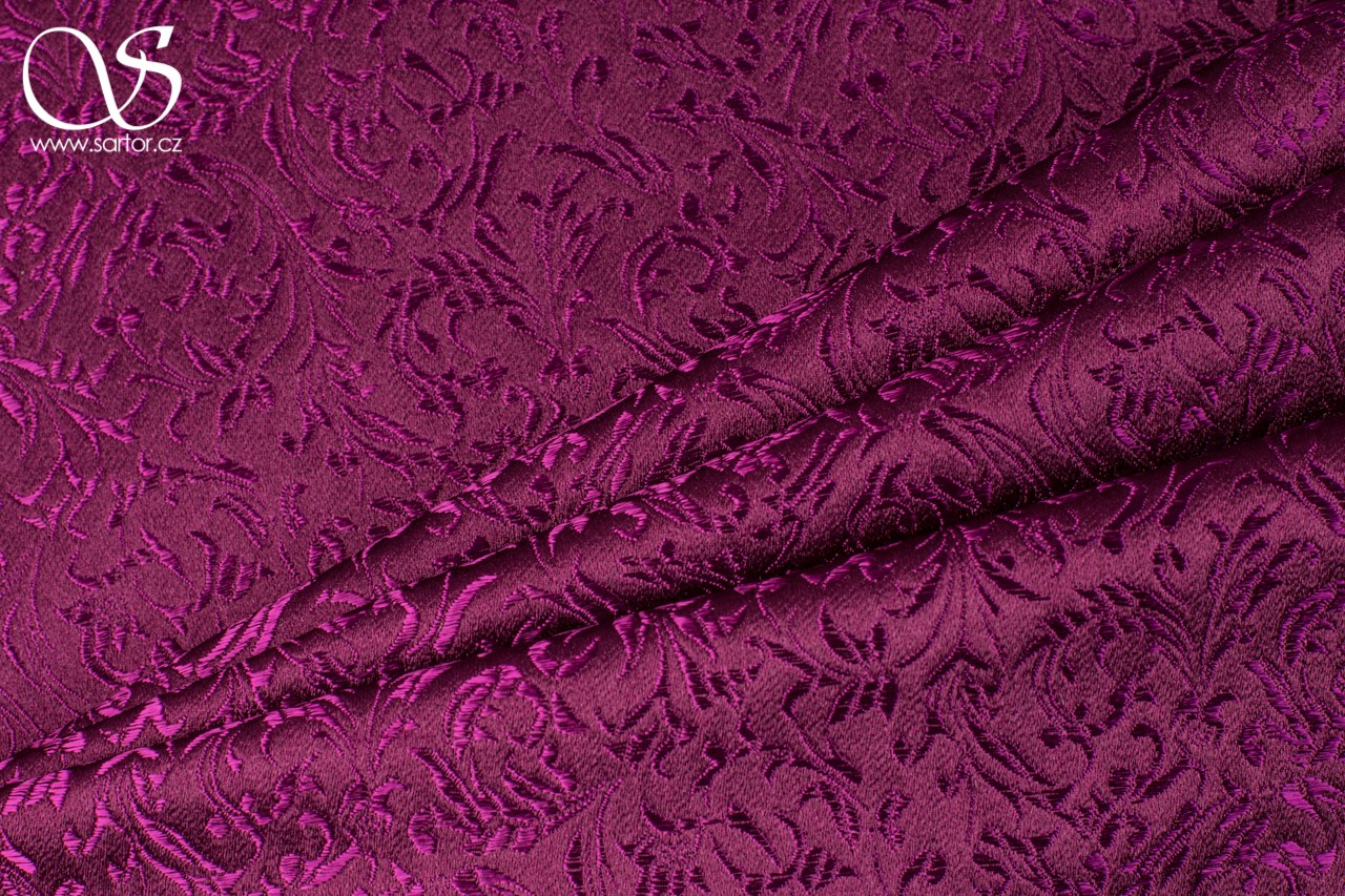 Brocade Ornaments, Wine Red