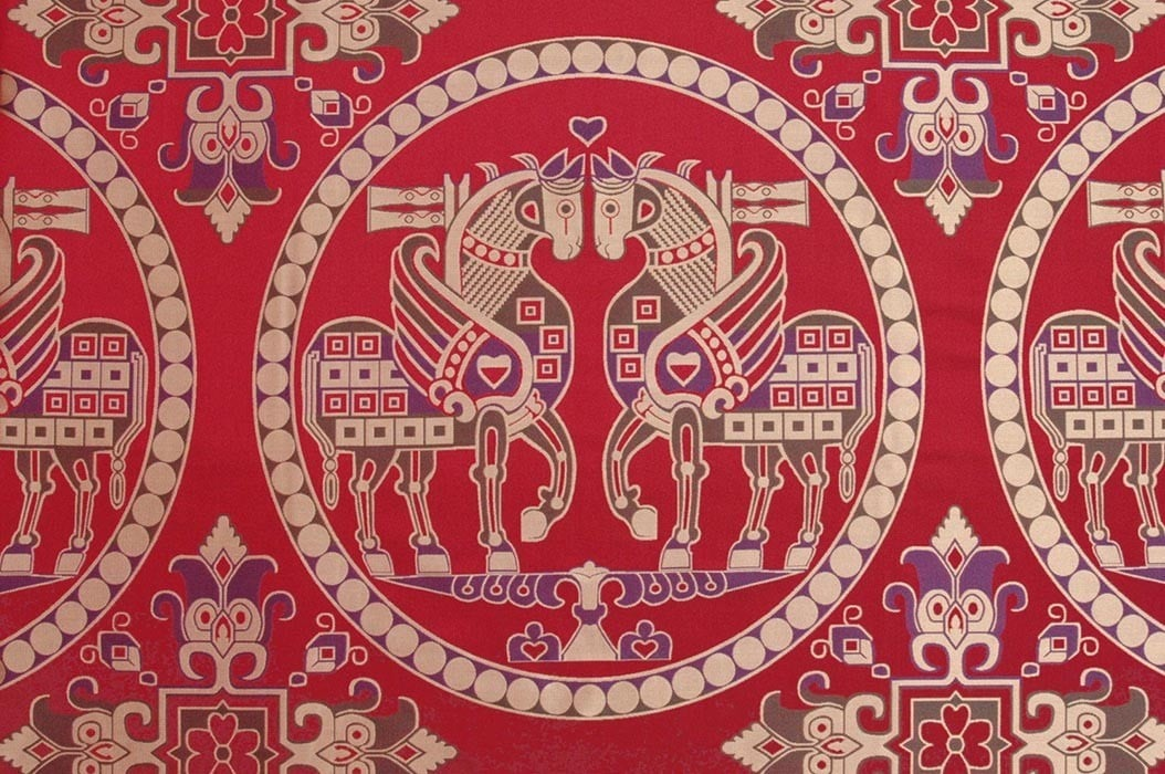 Sogdian Silk with Winged Horses
