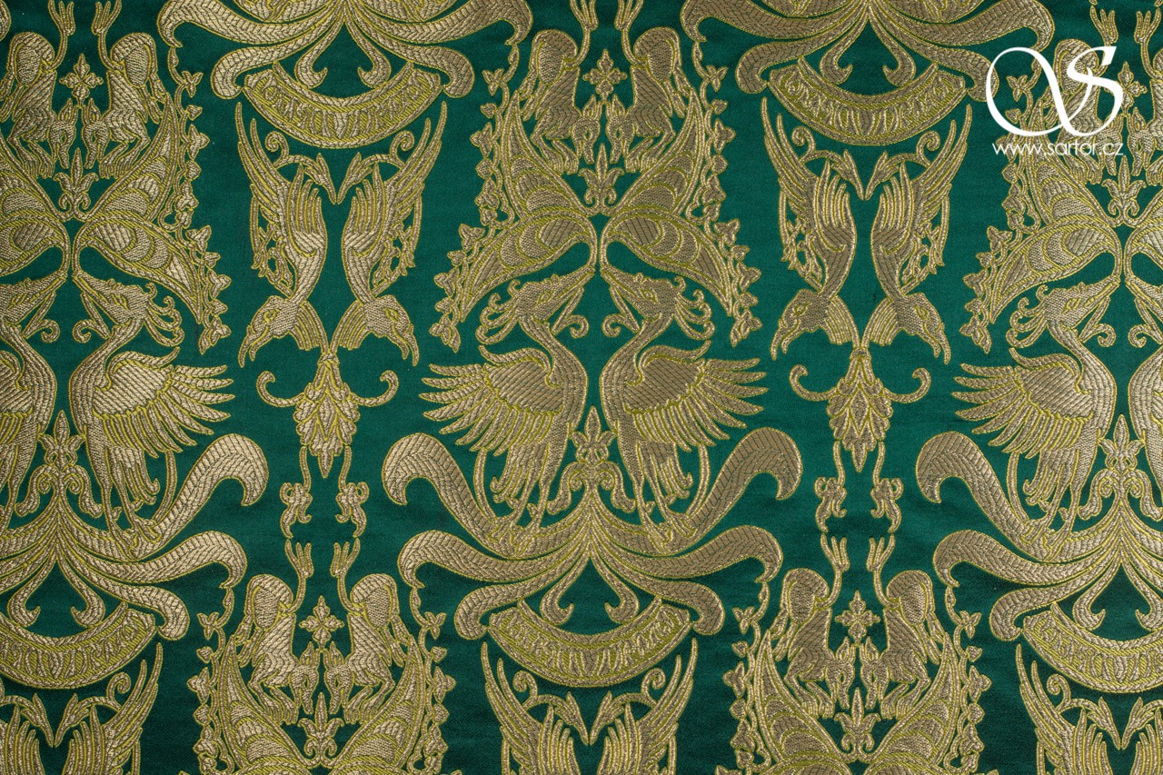 Gilded Brocade of King Charles IV., Green