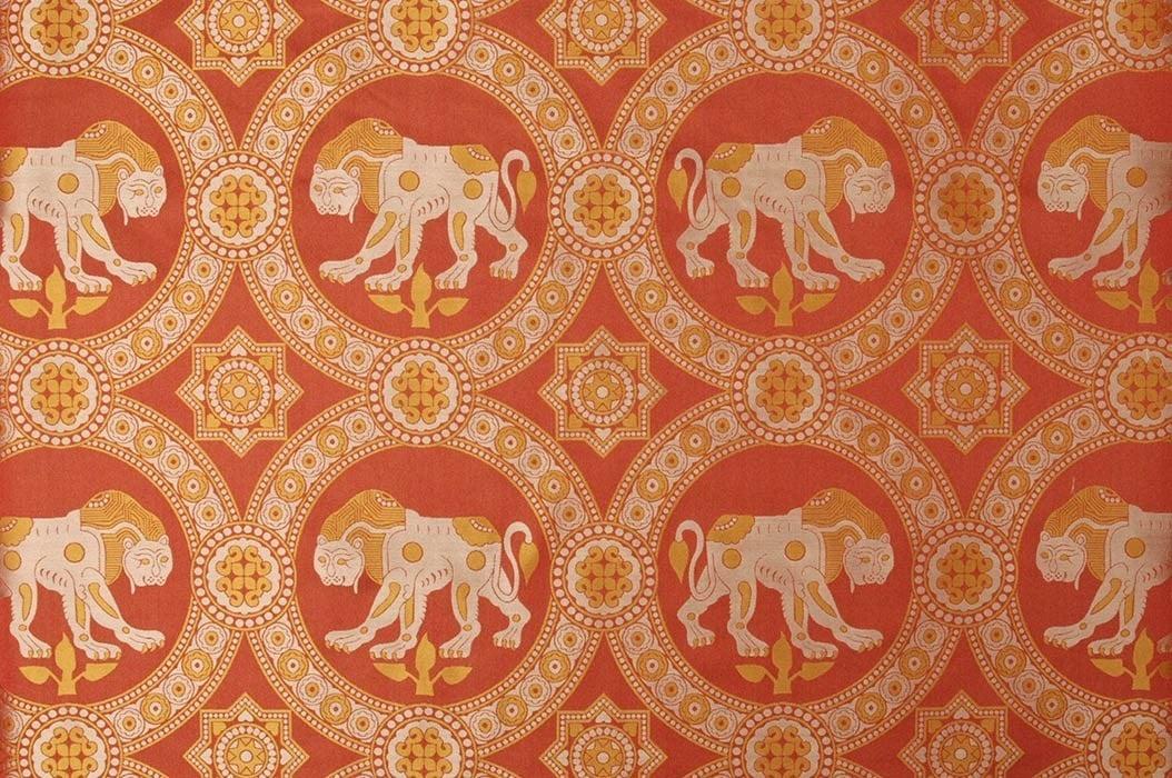 Hedvábný brokát se lvem svatého Juliána - Sartor cb89e8c80b