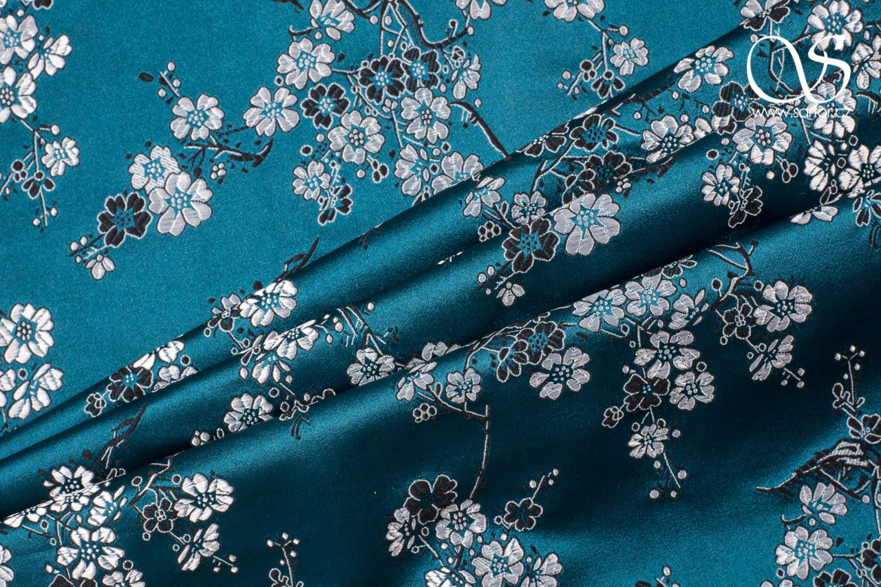 Brocade Large Sakura, Teal