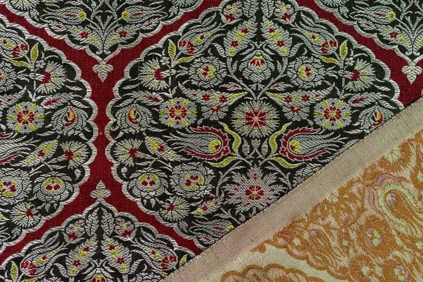 Ottoman Brocade with Flowering Vines