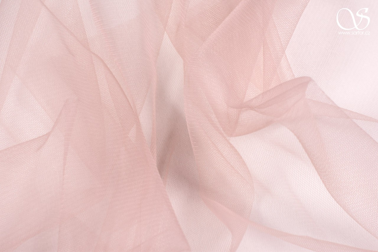 Veil Tulle 300 cm, Antique Pink