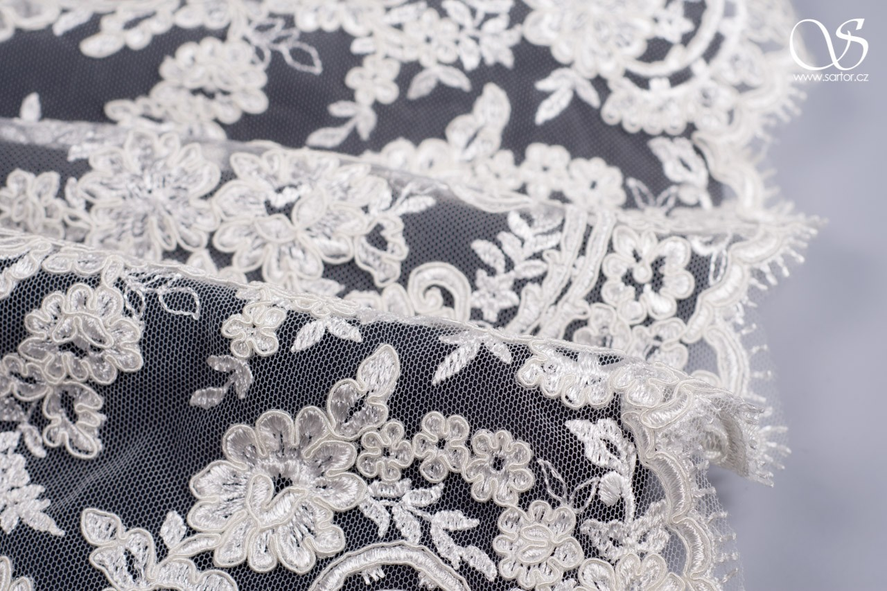 Corded Lace Catherine, Ivory