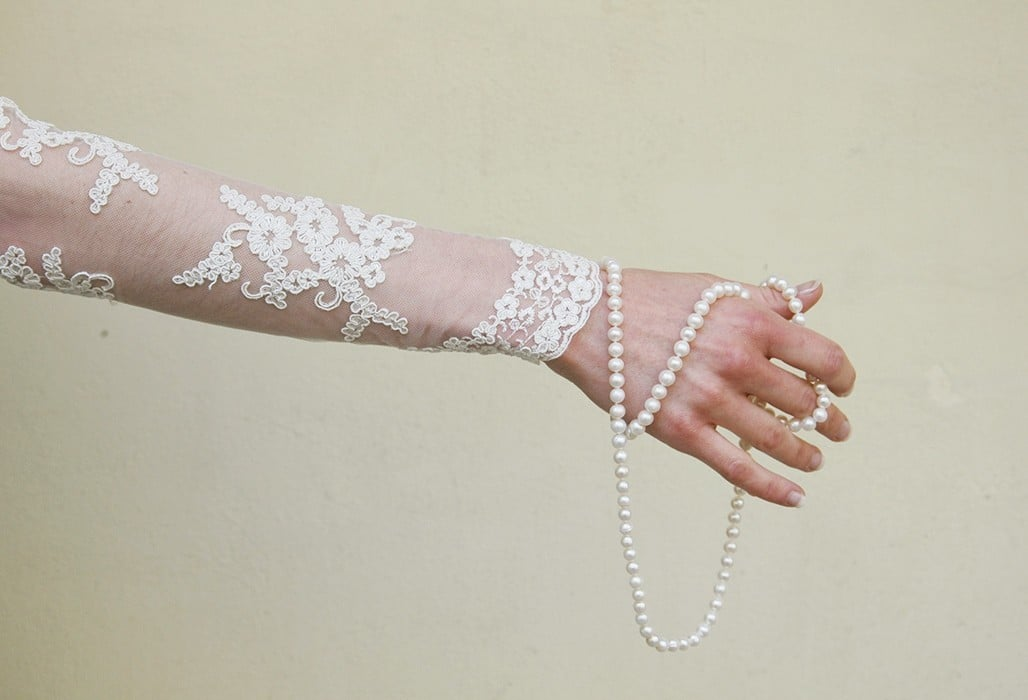 Corded Lace Primrose, Ivory