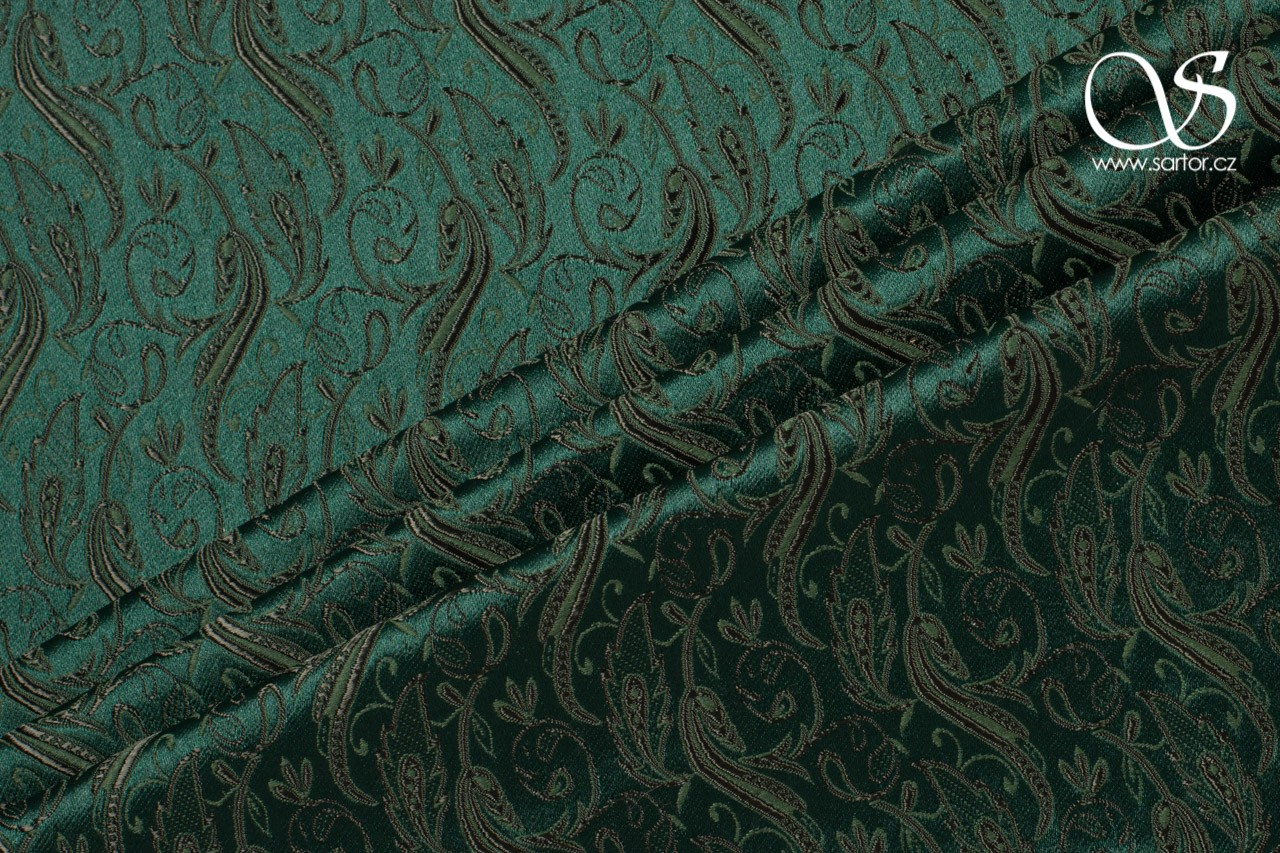 Brocade Slamanca, Bottle Green