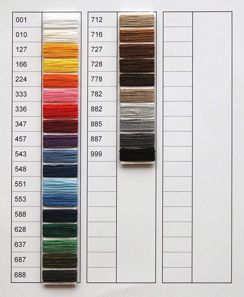 Linen thread, medium, 40 x 3 tex