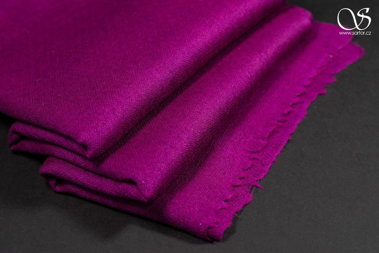 Wool Scarf w/Silk, Tyrian Purple