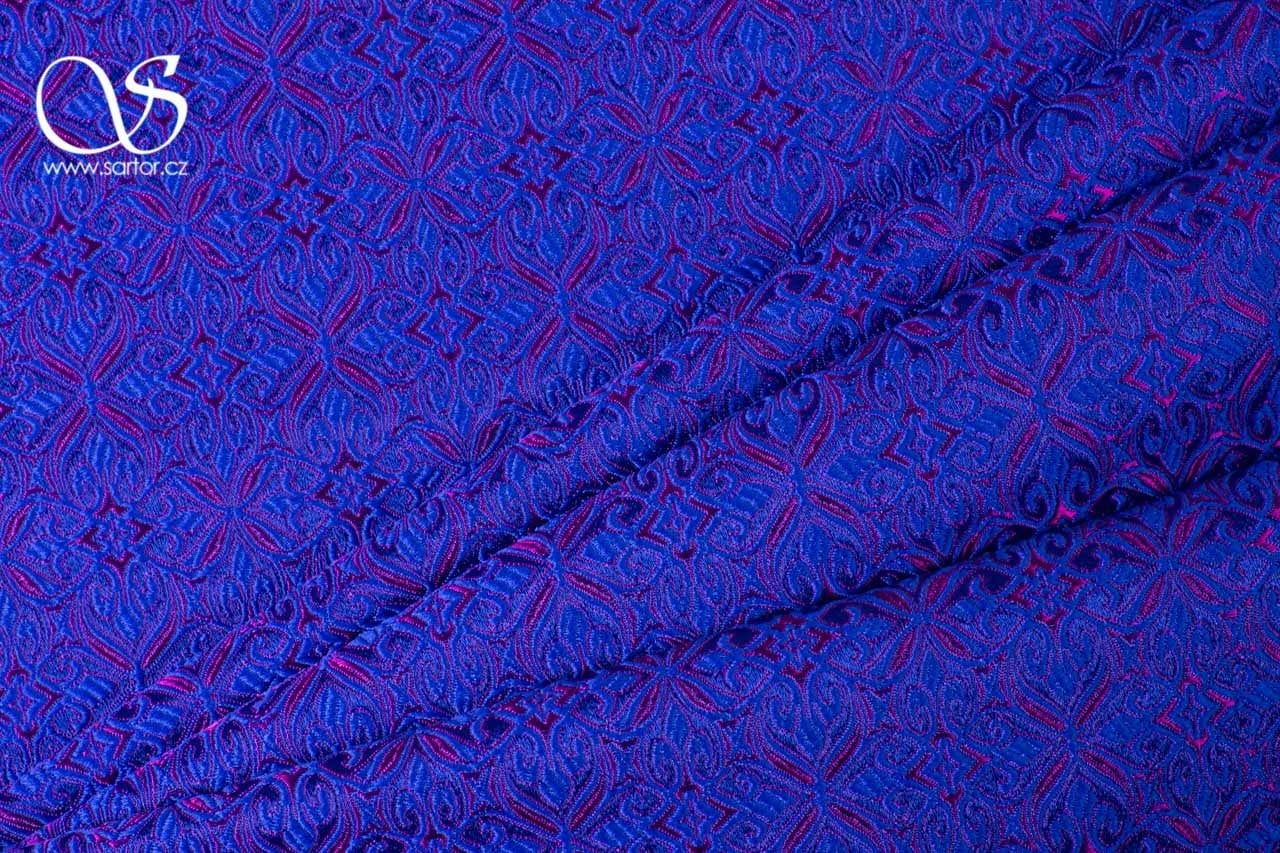 Noble Brocade, Pink and Blue