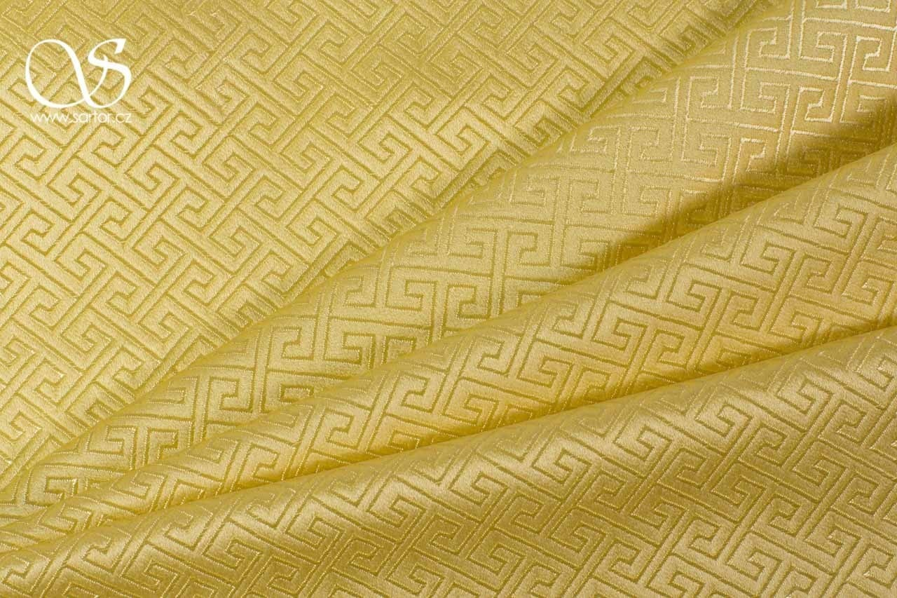 Geometric Brocade, Gold