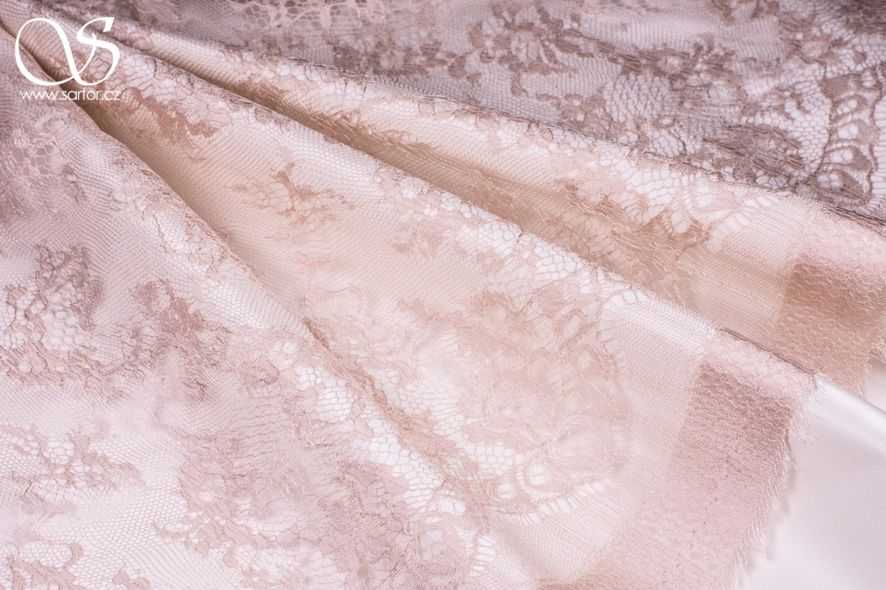 Silk Lace Antoinette, Powder Pink