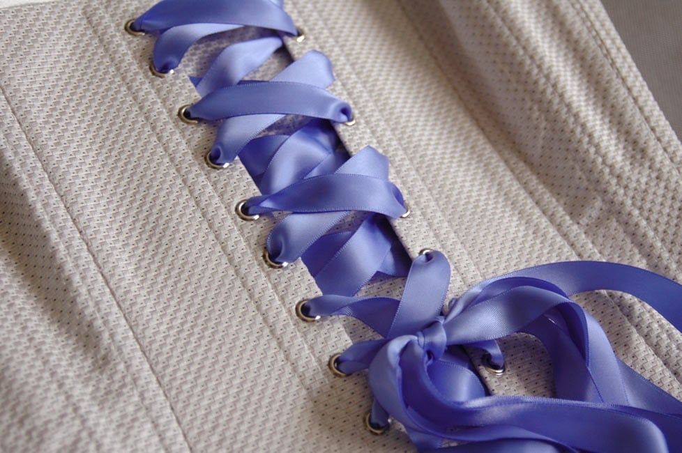 Double sided silk ribbon
