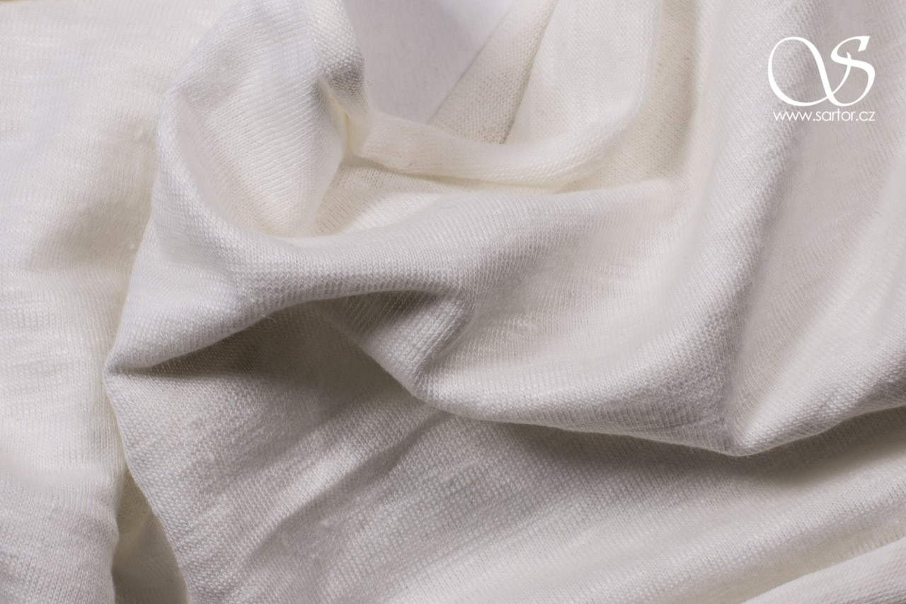 Linen Jersey, Ivory DEFECTS