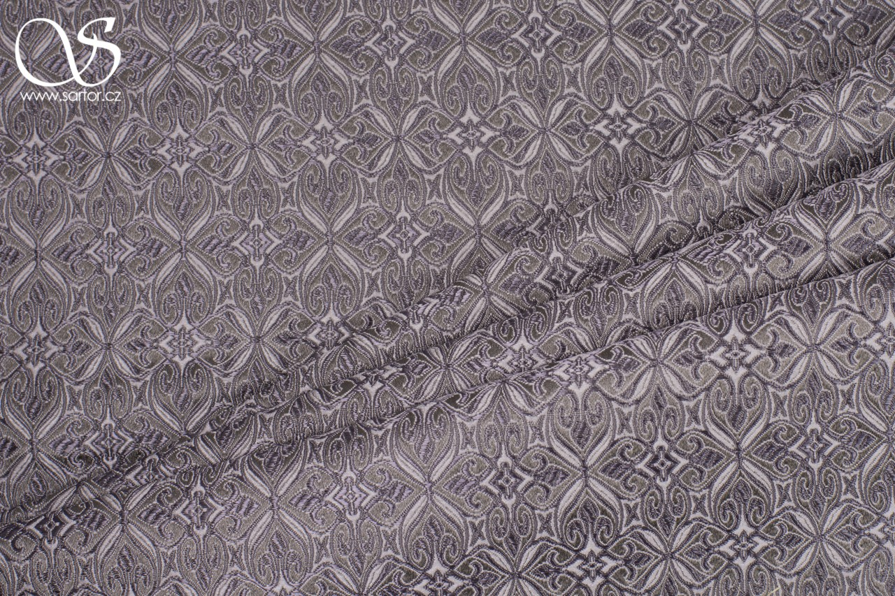 Noble Brocade, Grey