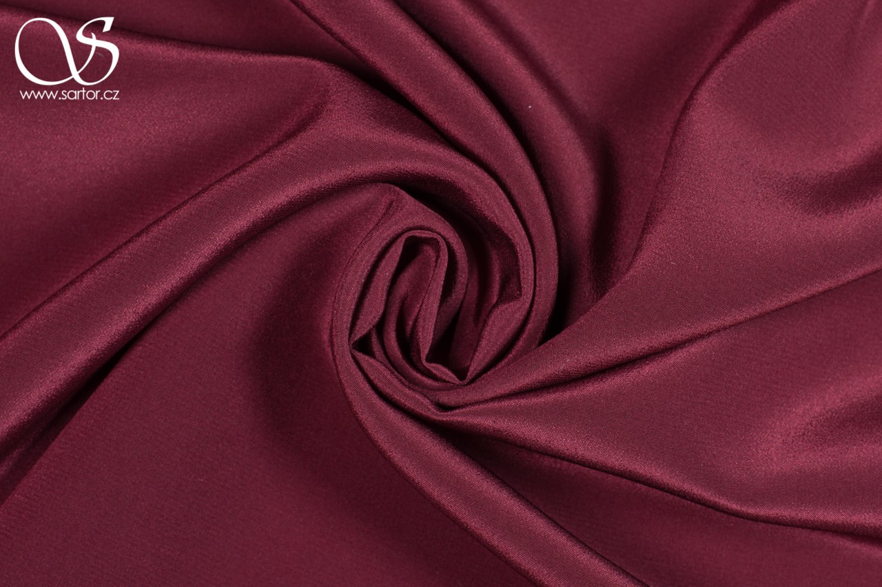 Crepe de Chine, Wine Red