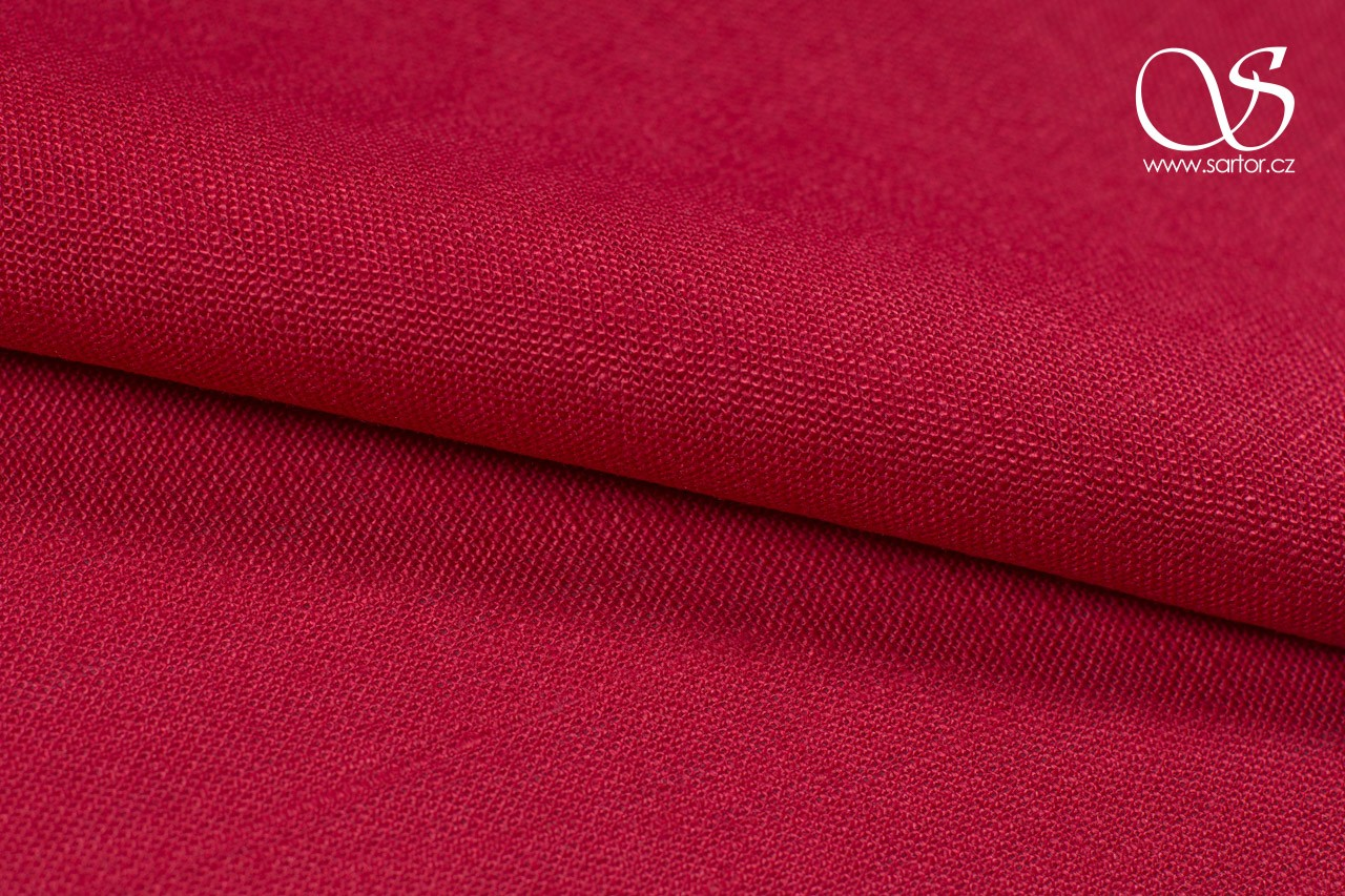 Heavy Linen, Crimson