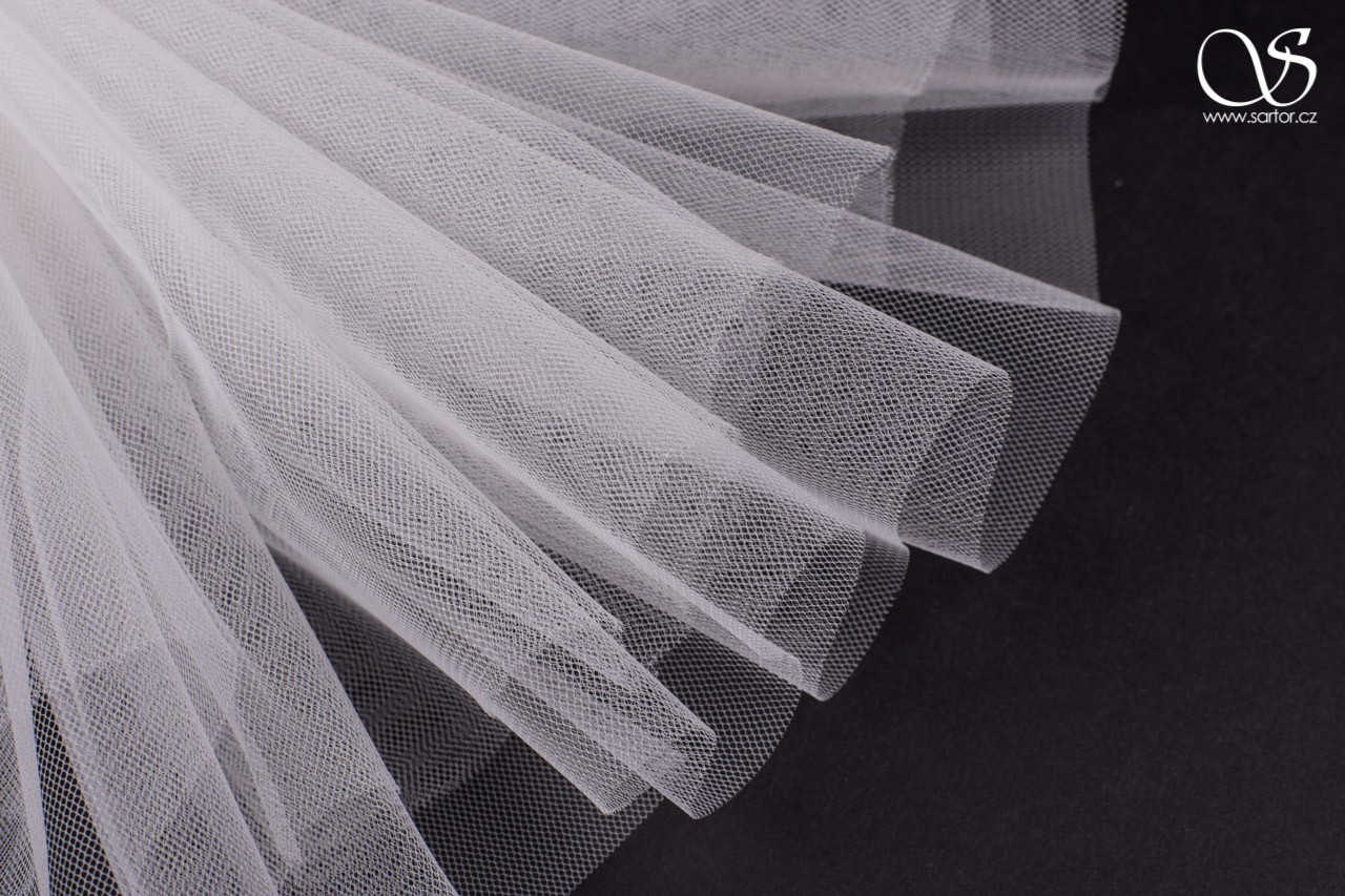 Veil Tulle Matt 300 cm, Light Ivory