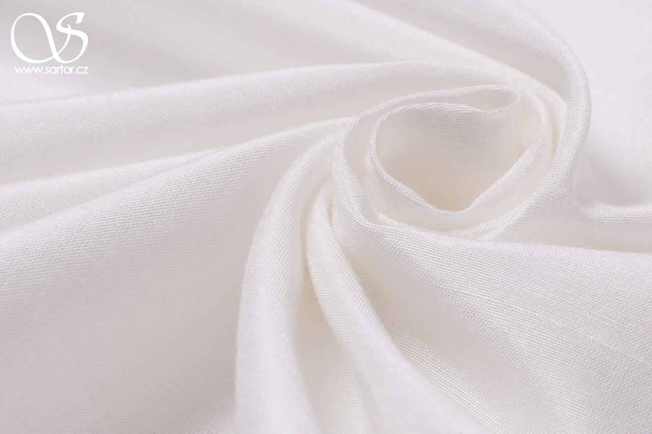 Plain Silk with Modal, Ivory
