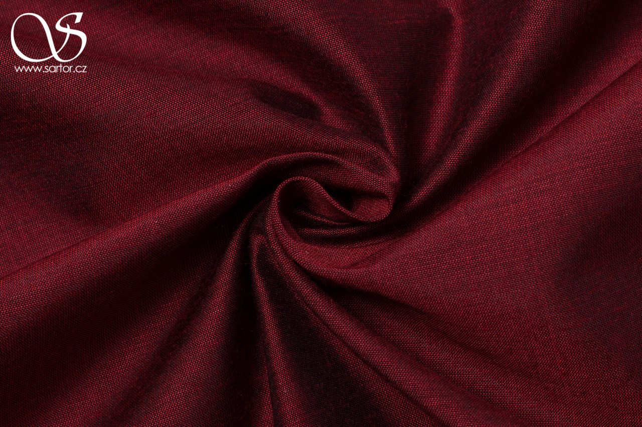 Plain silk with modal, crimson