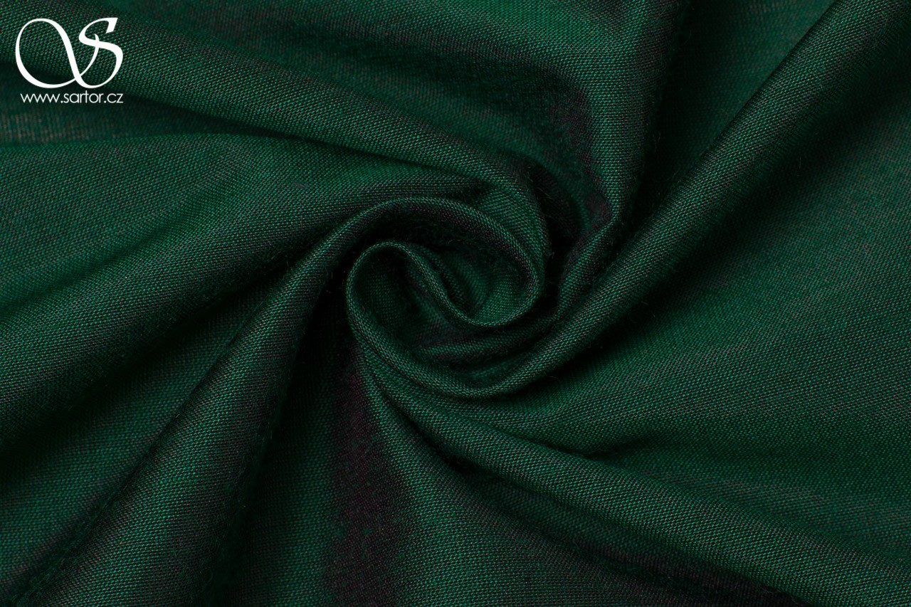 Plain Silk with Modal, Bottle Green DEFECTS
