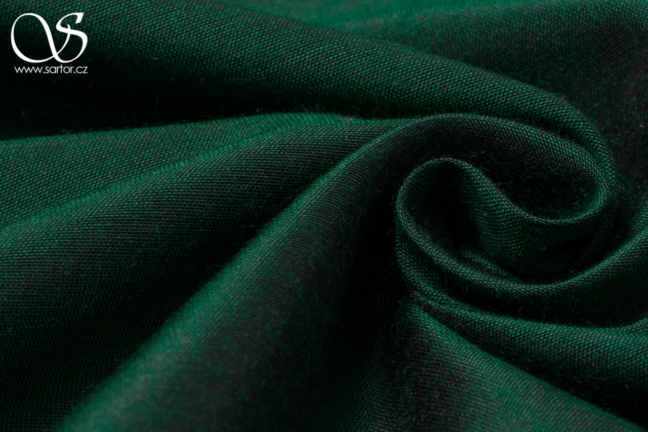 Plain Silk with Modal, Bottle Green