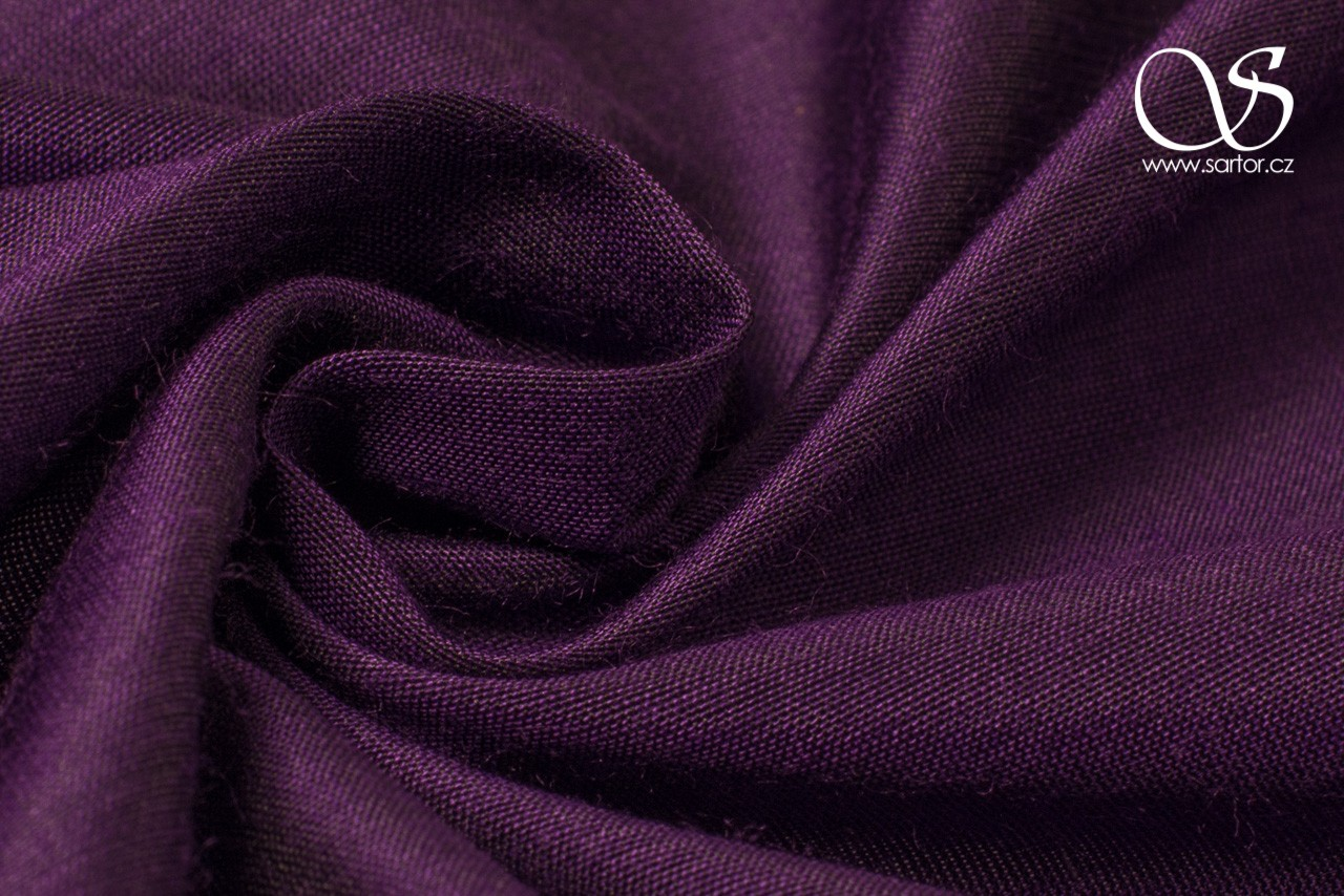 Plain Silk with Modal, Violet DEFECTS