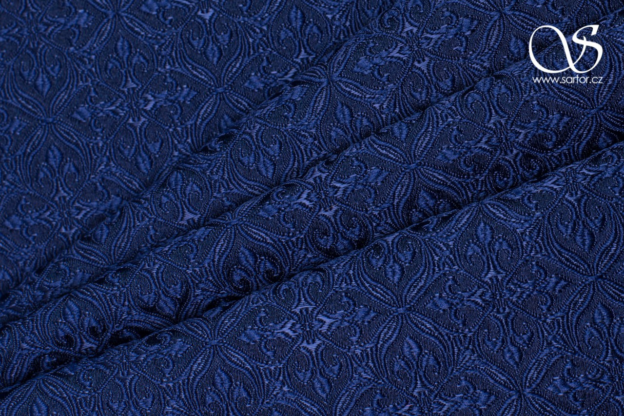 Noble Brocade, Paris Blue