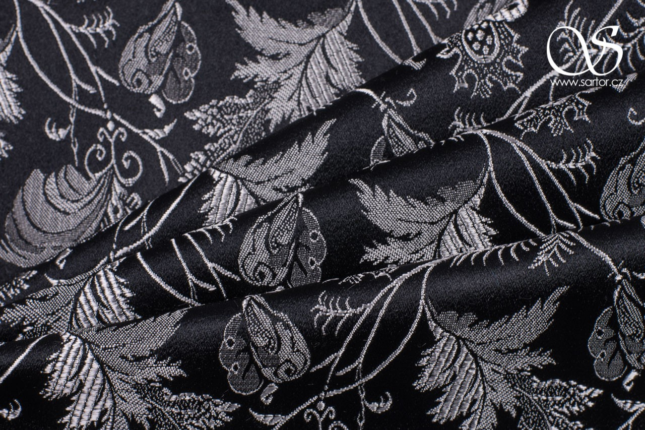 Brocade Flora, Black and White